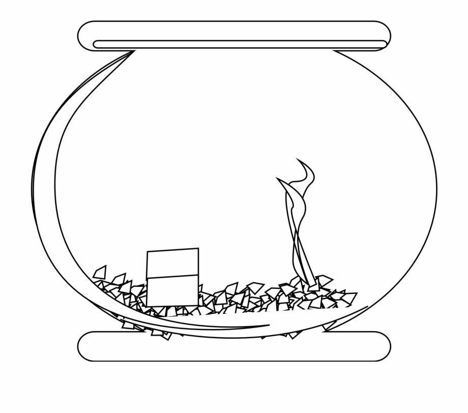 Empty fish tank png. Fishbowl clipart aquarium