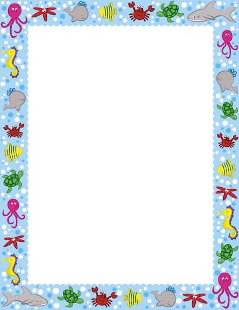 Pin by muse printables. Aquarium clipart border