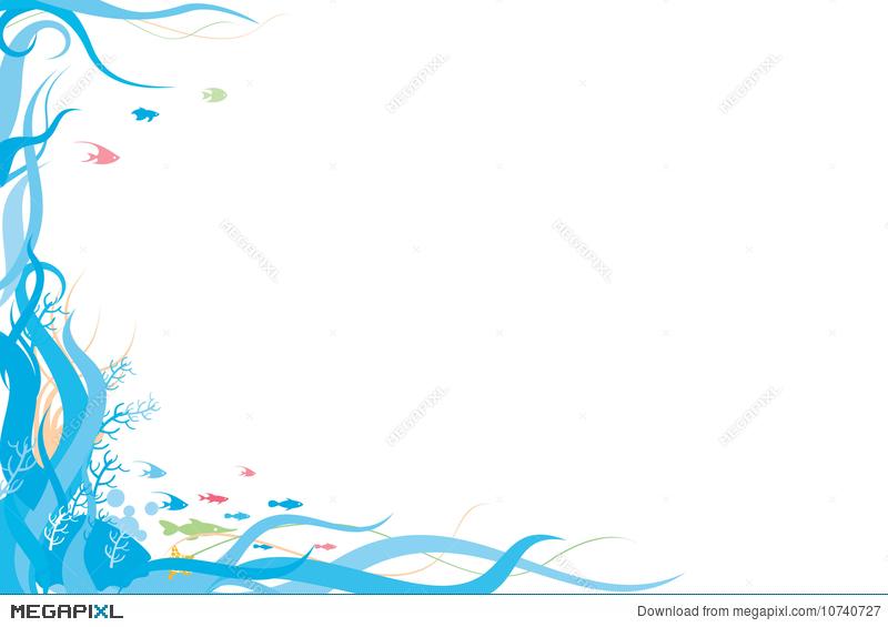 Aquarium clipart border. Ocean illustration megapixl