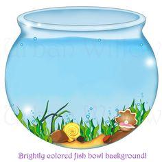 Fishbowl clipart. Image for aquarium coloring