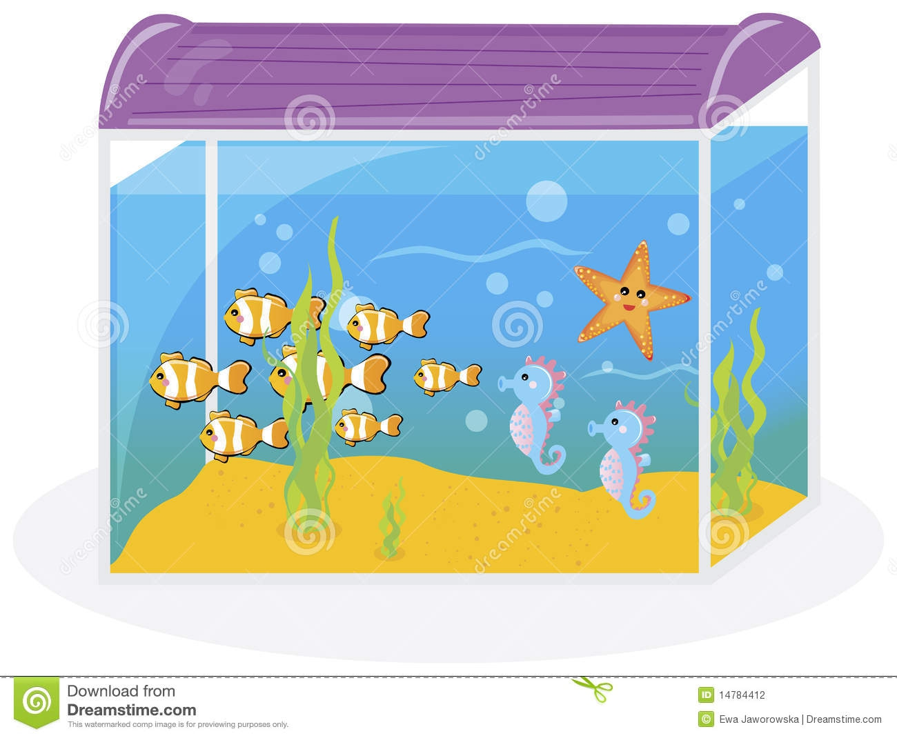 Embed codes for your. Aquarium clipart cute