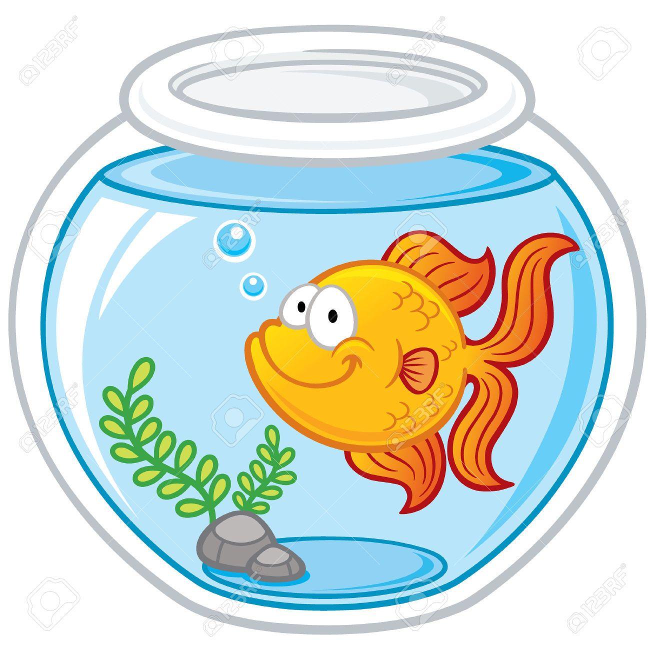 Goldfish clipart 2 fish. Bowl tank clip art