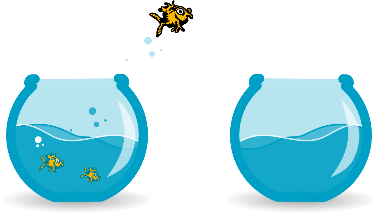 Fish tank jump white. Aquarium clipart goldfish bowl