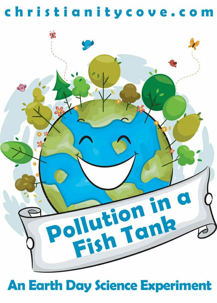 Pollution in a fish. Aquarium clipart handmade