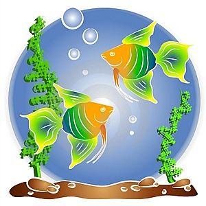 Aquarium clipart handmade. Fish in water clip