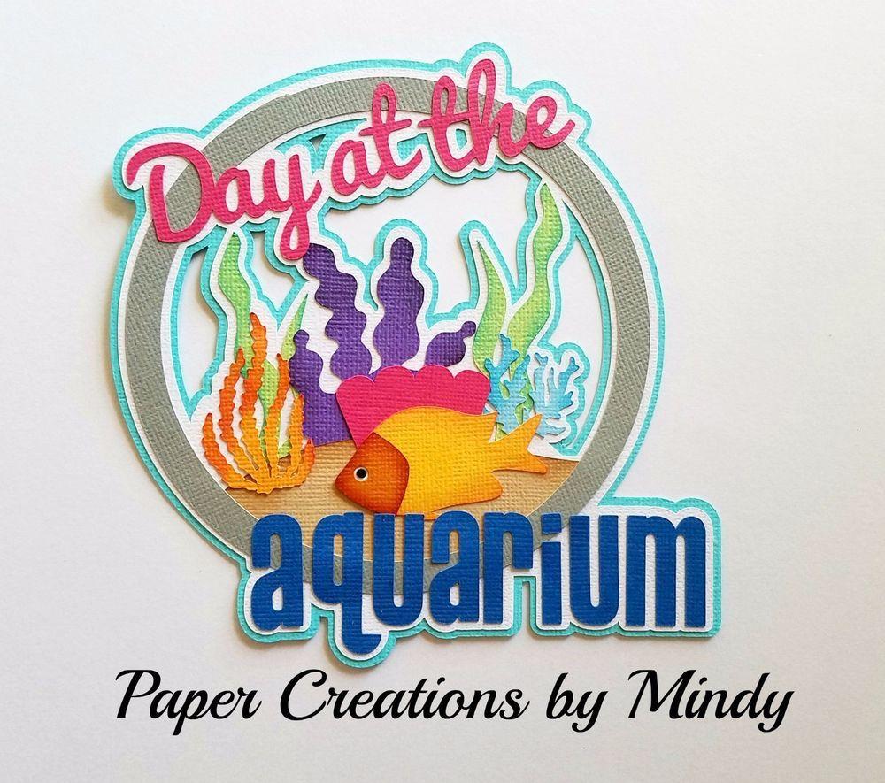 Craftecafe mindy school trip. Aquarium clipart handmade