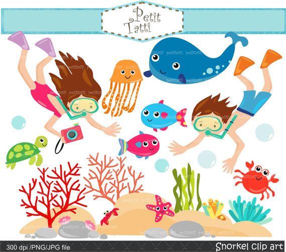 Snorkel clip art snorkeling. Fish clipart scuba
