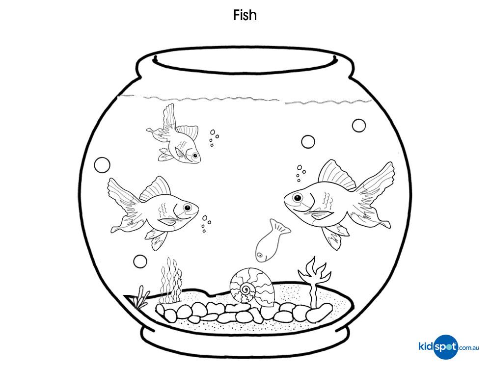 Free black and white. Aquarium clipart outline