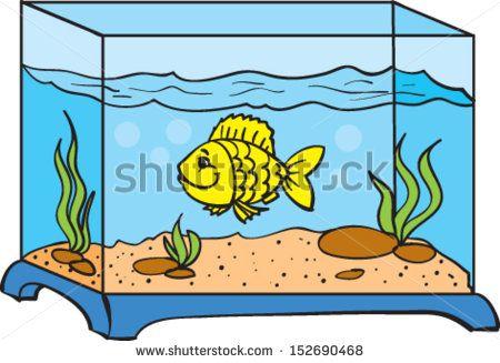 Wondrous of goldfish in. Aquarium clipart rectangle
