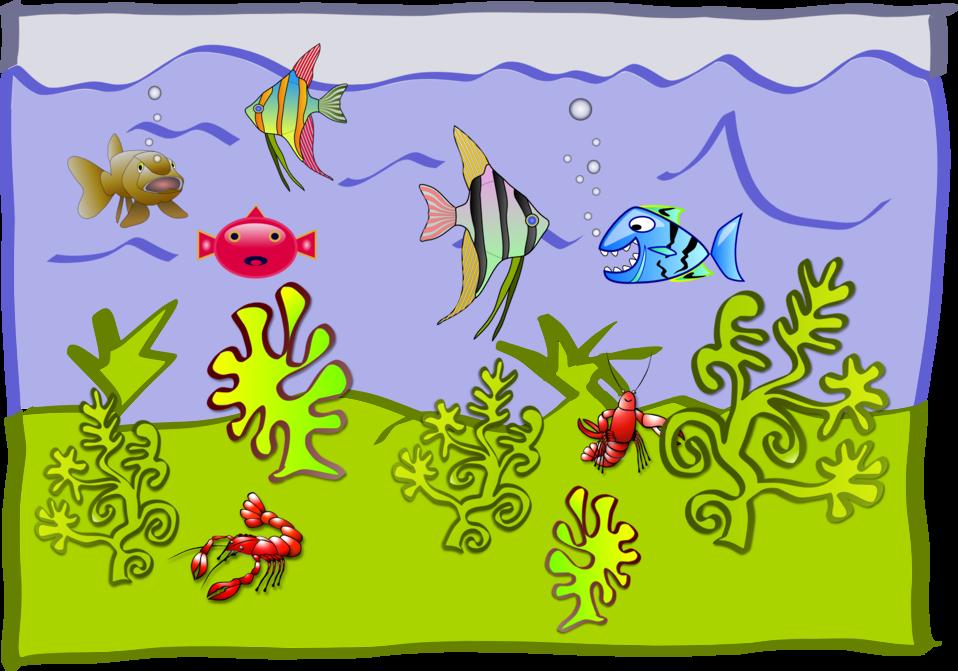 Public domain clip art. Aquarium clipart scene