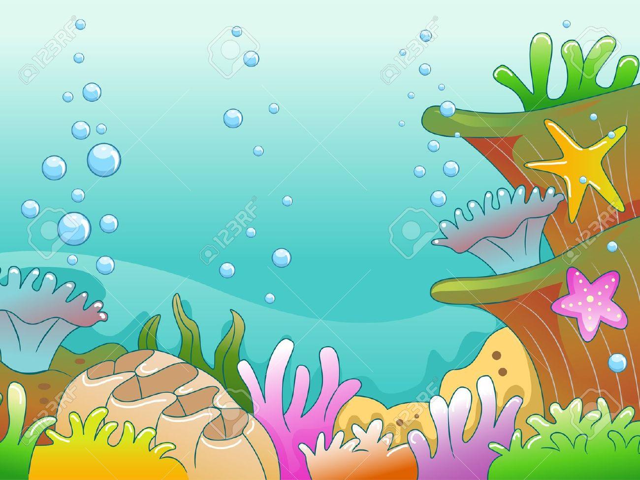 Aquarium clipart scene.  collection of drawing