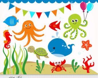 Cute underwater diy and. Aquarium clipart scene