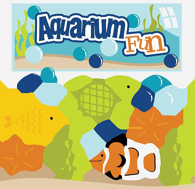Fish clipart turtle. Aquarium fun svg files