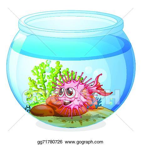 Aquarium clipart transparent. Eps vector a fish