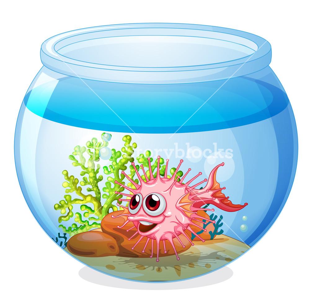 Aquarium clipart transparent. Illustration of a fish