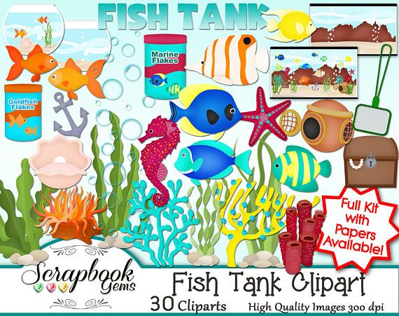 Aquarium clipart treasure chest. Fish tank png files