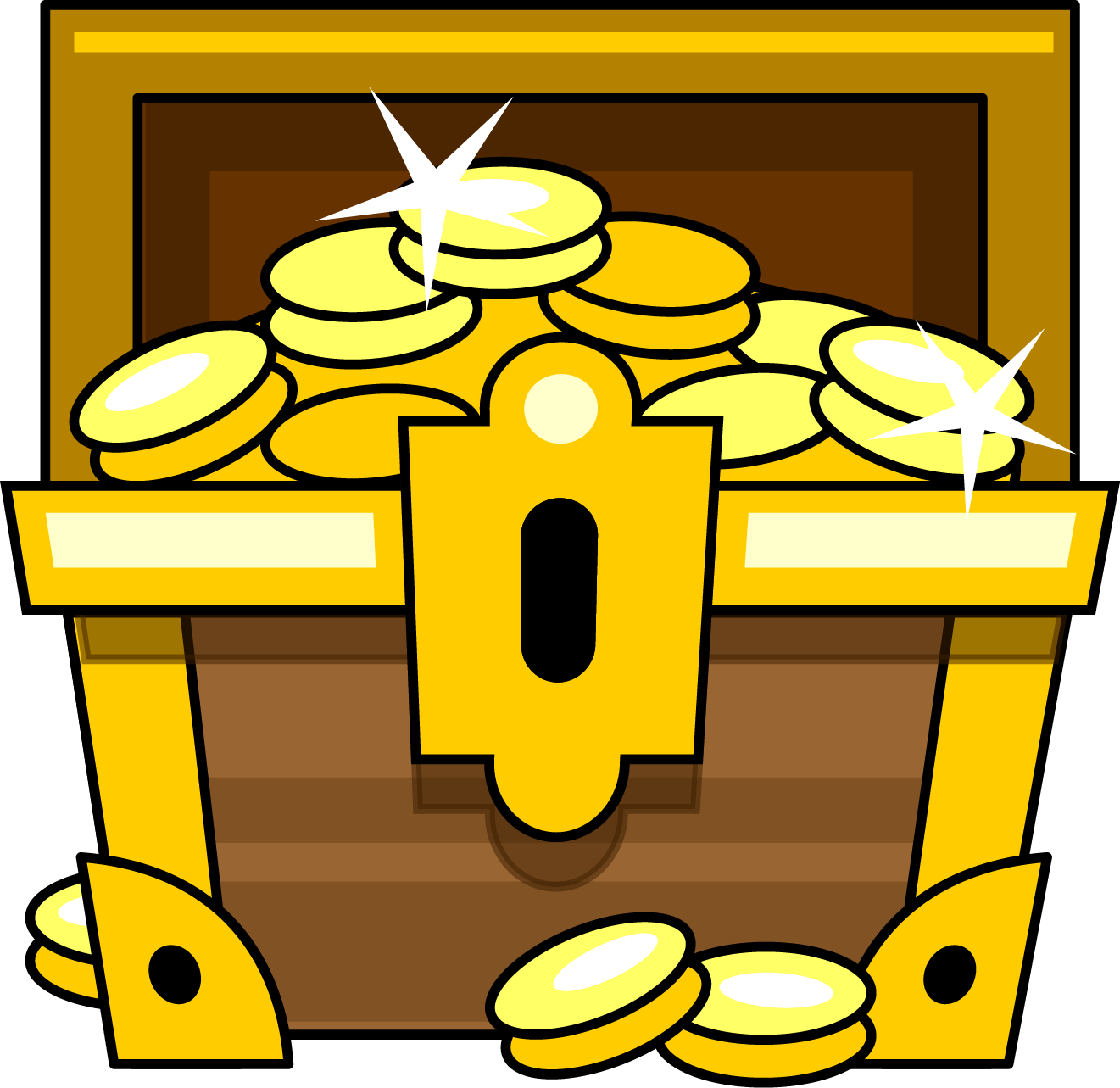 collection of chest. Treasure clipart crown