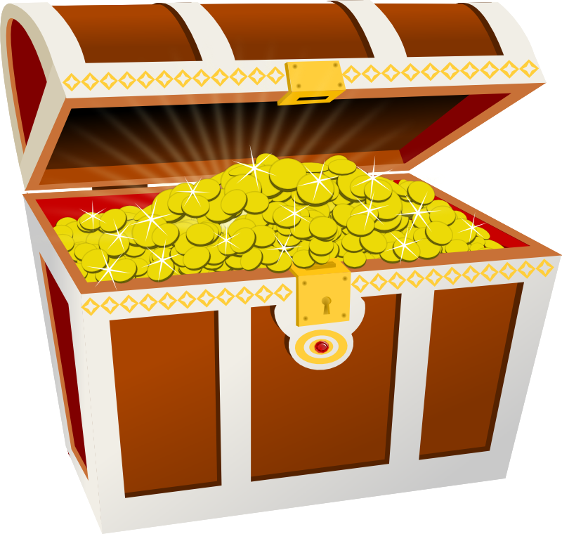 R clipart treasure bag. Chest by moini a