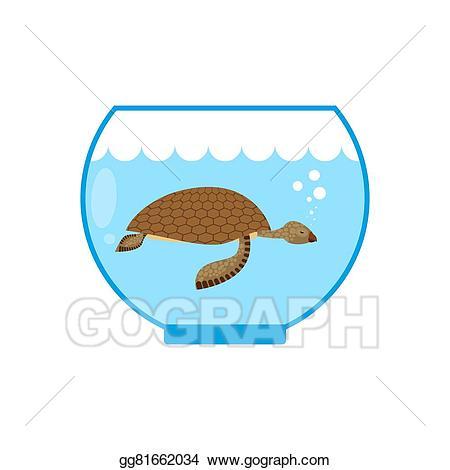 Vector stock sea in. Aquarium clipart turtle