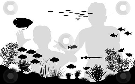 Stock. Aquarium clipart vector