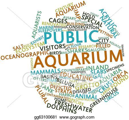 Aquarium clipart word. Stock illustration public illustrations