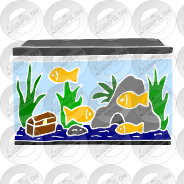Aquarium clipart word. Stencil for classroom therapy