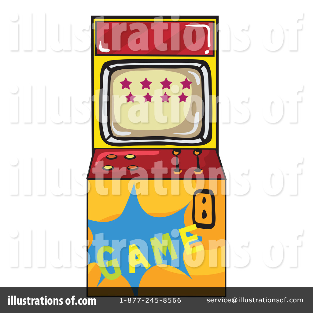 Illustration by graphics rf. Arcade clipart