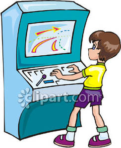 Arcade clipart. Panda free images playingvideogamesclipart
