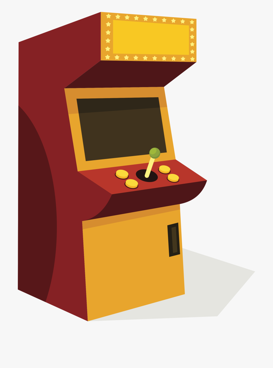 Arcade clipart. Cabinet png machine free