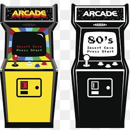 Placed png images vectors. Arcade clipart arcade box