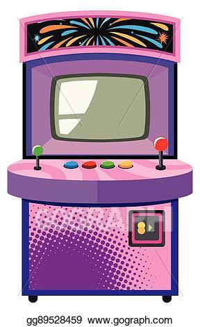 Arcade clipart arcade box. Vector art game machine