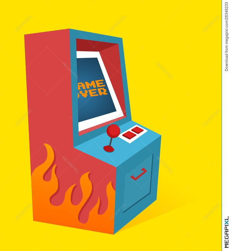 Arcade clipart arcade box. Game machine illustration megapixl