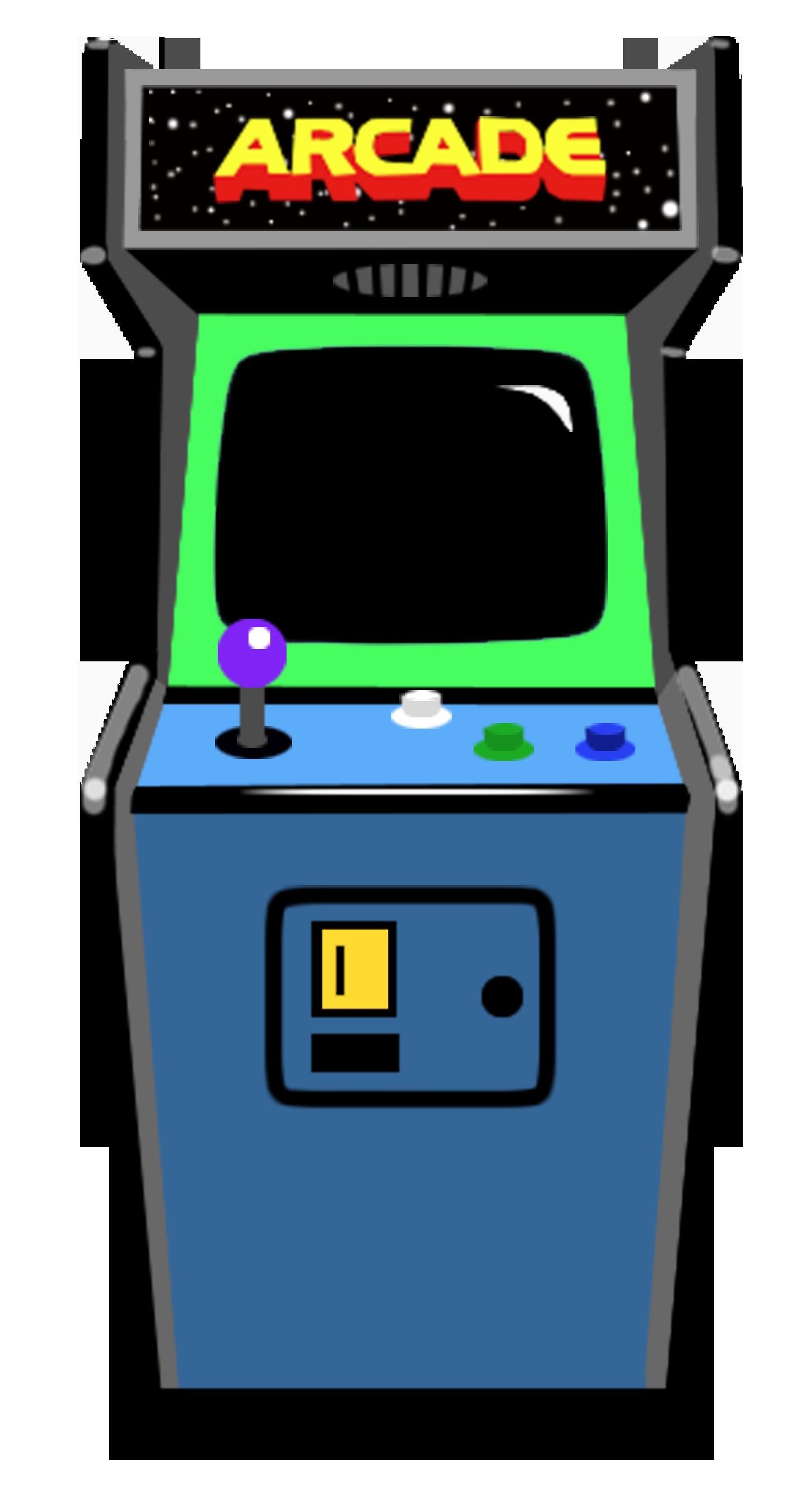 Retro vintage machine s. Arcade clipart arcade box