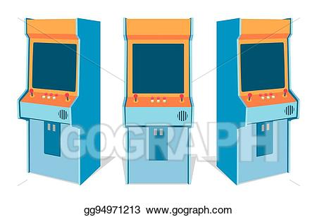 Vector machine on white. Arcade clipart arcade game
