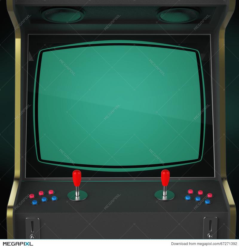 Arcade clipart arcade game. Vintage machine cabinet with