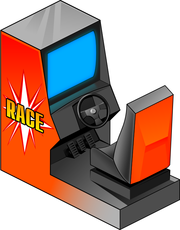 Arcade clipart arcade game. Racing recreation games video