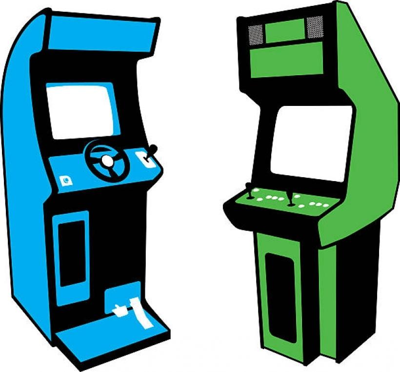 Video games pencil and. Arcade clipart arcade game