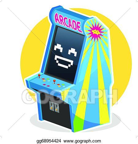 Arcade clipart arcade ticket. Vector art blue vintage