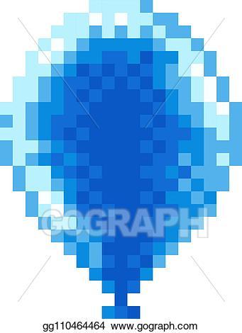 Arcade clipart balloon. Vector stock pixel art