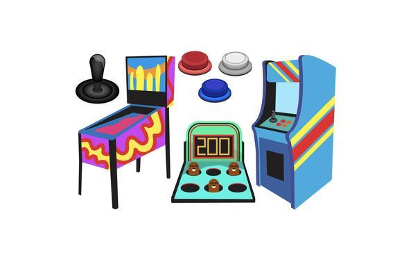 Game icons pinball in. Arcade clipart balloon