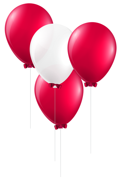 Red and white balloons. Arcade clipart balloon