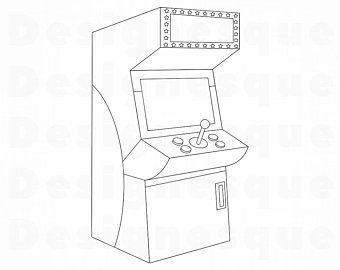 Etsy . Arcade clipart black and white