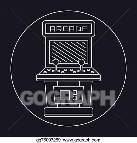 Arcade clipart black and white. Clip art vector pixel
