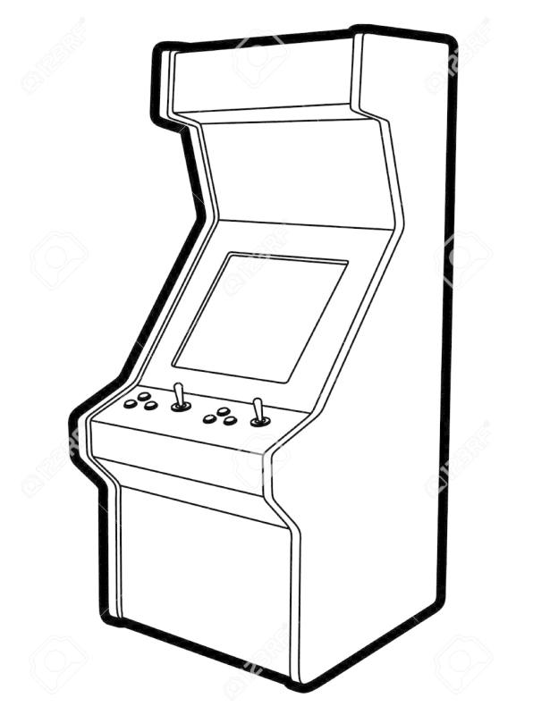 Arcade clipart black and white. Ourclipart pin