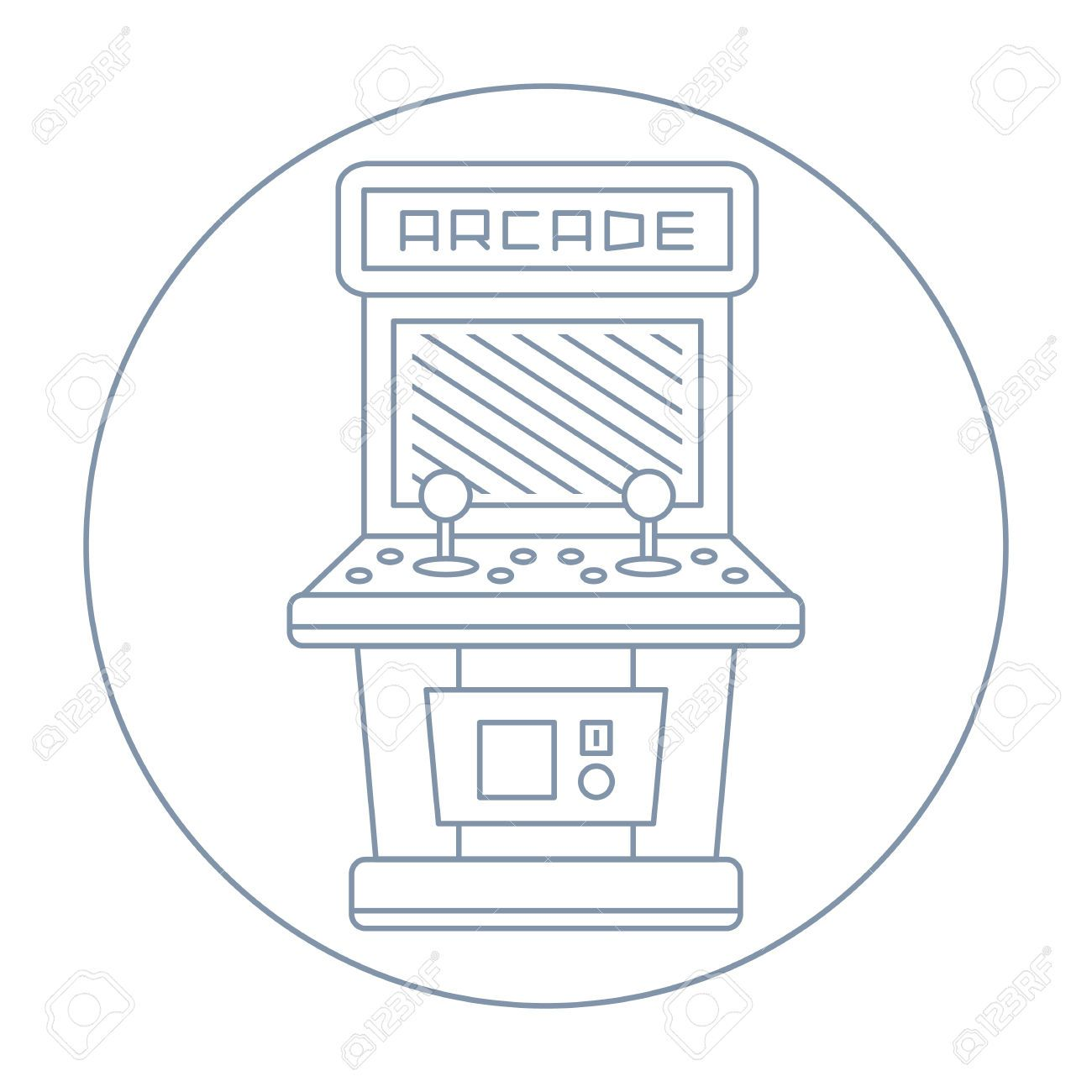 Arcade clipart black and white. Game icon pinterest searching