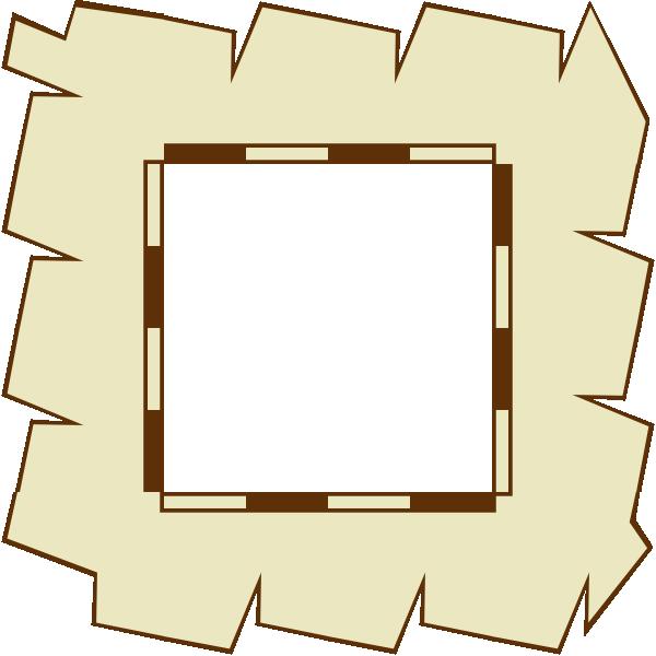 Game map border clip. Clipart paper boarder