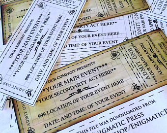 Arcade clipart broadway ticket. Theater etsy custom event