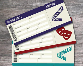 Arcade clipart broadway ticket. Theater etsy printable set