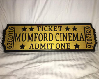 Theater etsy movie home. Arcade clipart broadway ticket