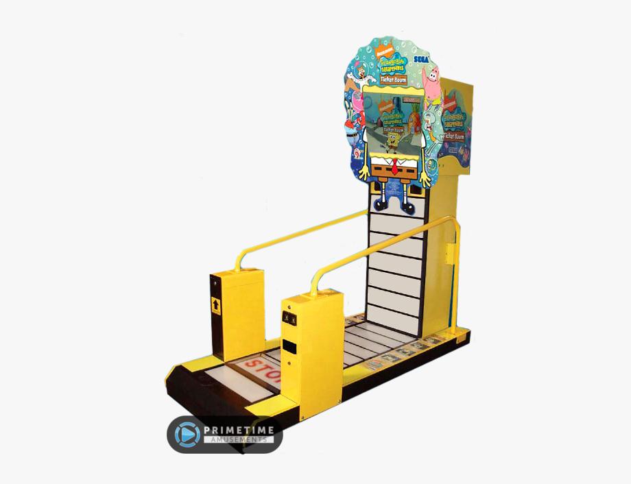 Arcade clipart broadway ticket. Spongebob squarepants boom